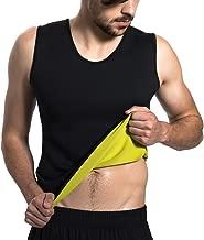 Roseate Men's Body Shaper Hot Sweat Workout Tank Top Slimming Neoprene Vest for Weight Loss Tummy Fat Burner