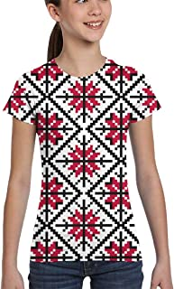 Girl T-Shirt Tee Youth Fashion Tops Reindeer Background