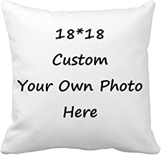 "Best Custom Pillow Case, Design Photos or Text Customize Throw Pillowcase, Personalized Pet Photo Pillow, Love Picture and Wedding Keepsake Throw Pillow Cover 18"" x 18"" Review"