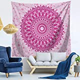 Brandless Patrón de Mandala de Pavo Real Tapiz Hippie Bohemio Boho Manta Decoración del hogar Apartamento Dormitorio Decoración de la habitación Colgante de Pared