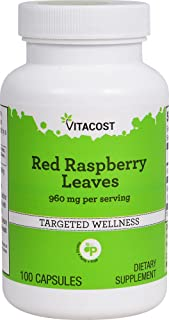 Vitacost Red Raspberry Leaves -- 960 mg per serving - 100 Capsules