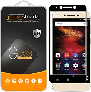 (2 Pack) Supershieldz for LeEco Le Pro3 (Le Pro 3) Tempered Glass Screen Protector, (Full Screen Coverage) Anti Scratch, Bubble Free (Black)