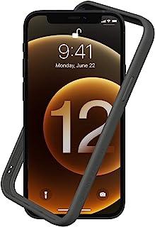 RhinoShield [iPhone 12 / 12 Pro] CrashGuard NXバンパーケース - 3.5mの落下衝撃からも保護 背面のないスタイリッシュデザイン - グラファイト