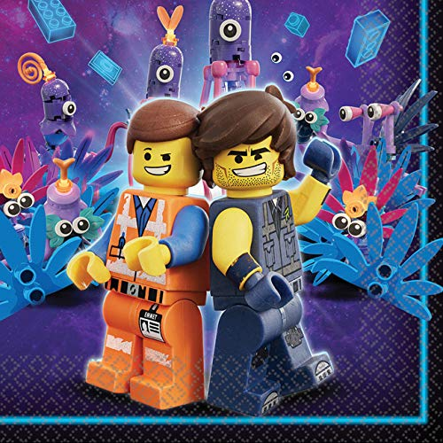 Amscan 511711 16 Servietten Lego Movie 2, Blau