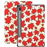 Funda para Galaxy Tab S7 Funda Delgada y Liviana con Soporte para Tableta Samsung Galaxy Tab S7 de 11 Pulgadas Sm-t870 Sm-t875 Sm-t878 2020 Release, Autumn Set Orange Maple Leaves On