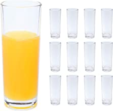 copdrel Highball Glasses Set of 12, Clear Base Tall Bar Drinking Cups 9oz(265ML), Drinking Glasses For Water, Juice, Beer,...