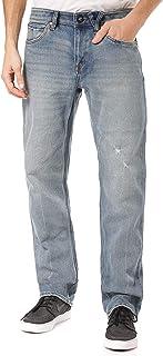 Volcom Men's Solver Modern Fit Denim Jeans, Cruzer Blue, 32