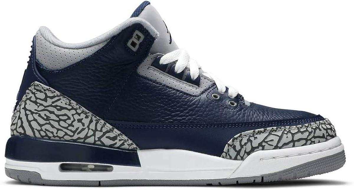 Nike Kid's Shoes AJ 3 Retro (GS) Georgetown 398614-401 (Numeric_4_Point_5)