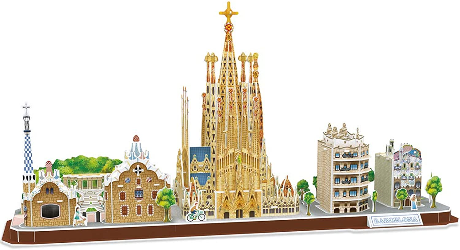CubicFun Barcelona CityLine Landmarks Collection 3D Puzzle, 186 Pieces