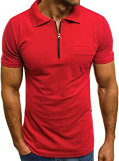 Fashion Personality Men's Casual Slim Short Sleeve Pockets T Shirt Top Blouse