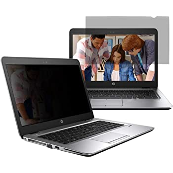 "14"" Laptop Privacy Screen Filter for (16:9) Black Security Shield - UV Blue Light Filter, Anti-Scratch, Anti-Glare"