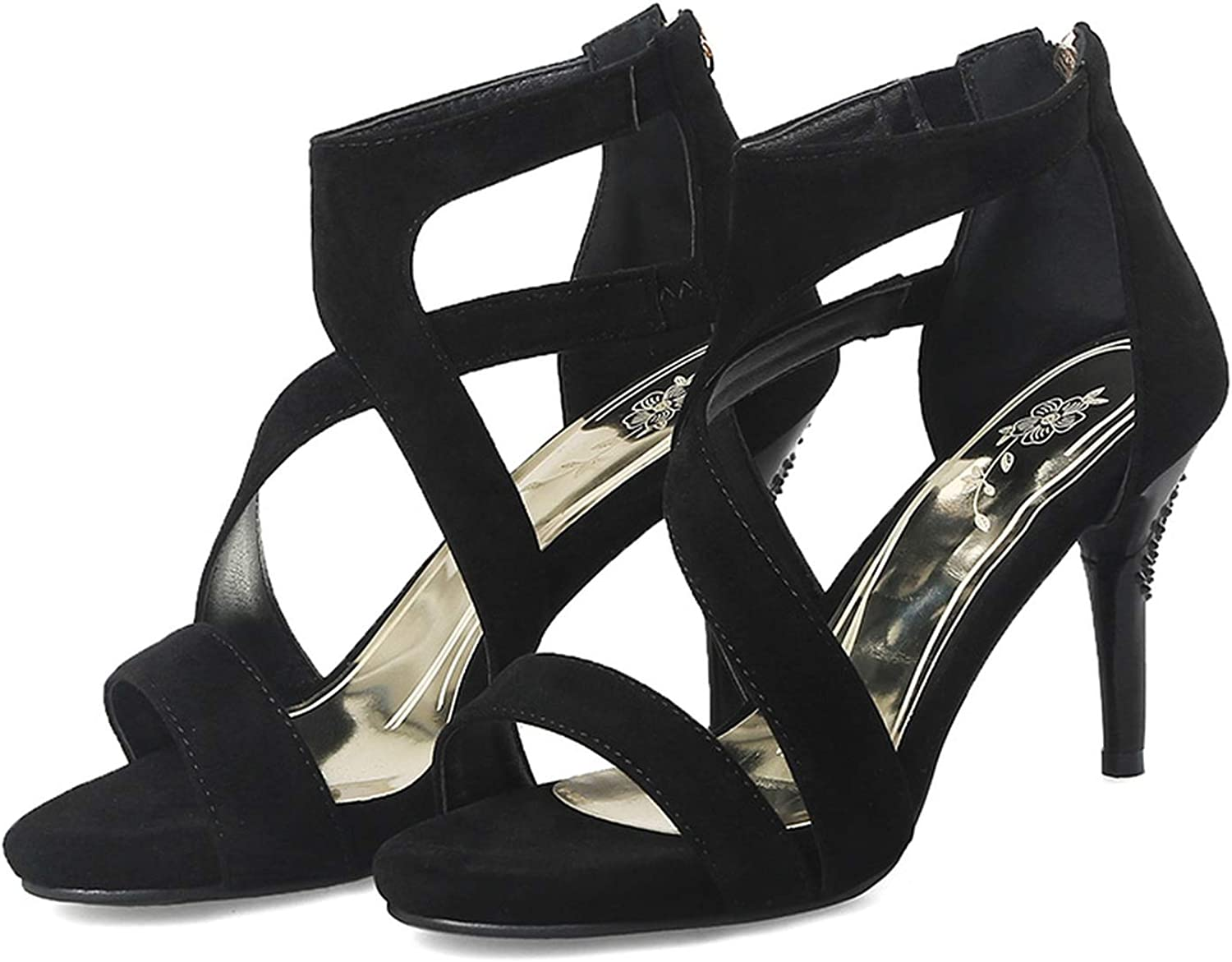 Merry-Heart Women Sexy High Heels Ankle Strap Roman Sandals shoes Ladies,