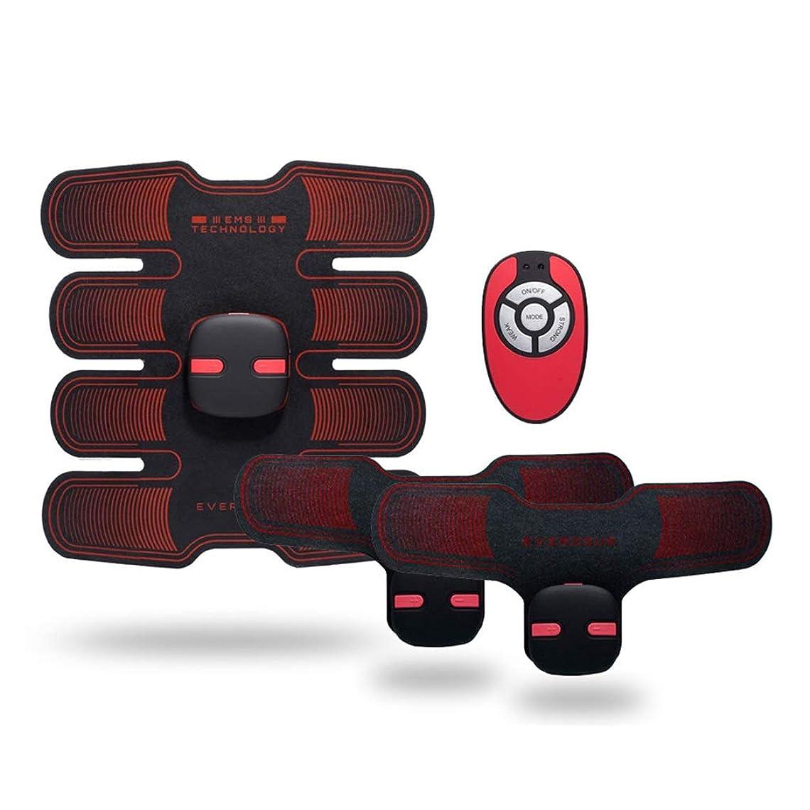 EMS腹筋トレーナー筋肉刺激装置腹筋フィットネスベルトホームオフィス腹筋トレーナー筋肉トレーニング腹部マシン筋肉腹部トレーナーボディービル腹部ベルトギフト腹部調色ベルト (Color : BLACK, Size : 19*20CM)