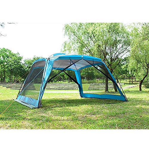 3m Garden Tents and Gazebos,Party Tent Outdoor Gazebo with Mesh Sides Canopy Event Shelter Mosquito Netting Camping Tents Marquee,Blue