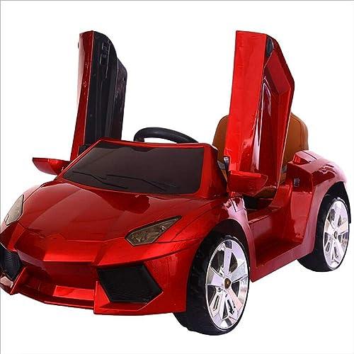 Kinder Elektroauto Vier R r mit Fernbedienung kann die Tür für M er und Frauen  nen Baby Spielzeugauto Elektroauto kann Sätzen (Farbe   rot)