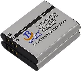 2X Battery for D Li92 DLi92 Optio WG-2 WG-3 WG-1 WG-10 WG2 WG1 WG3 X70 RZ18 X-70 RZ10 GPS D L192 DL192 Digital Camera
