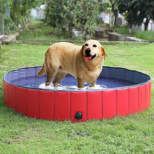 yumeng Hundepool Schwimmbecken Kinderschwimmbad für Hunde Katzenbad für Hunde Schwimmbad aus PVC rutschfest für Kindergeschenke (160 * 30cm)