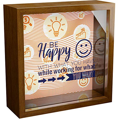 Entrepreneur Gifts | Wooden Shadow Box Frame | New Business Owner Gifts | Motivational Gift | Wall Decor Frames for Office | Entrepreneurs Themed Decorations