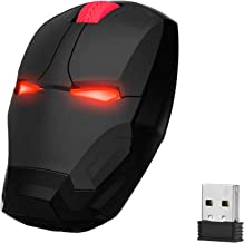 WFB Wireless Mouse Cool Gaming Mouse Ergonomic 2.4 G Portable Mobile Computer Click Silent Optical Mice with USB Receiver for Notebook PC Laptop Computer Mac Book (Black)