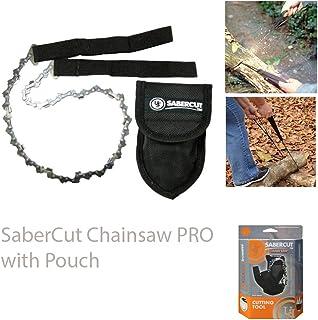 UST SaberCut sierra de cadena con hoja bidireccional de 24 pulgadas, diseño compacto y funda de transporte de nailon para senderismo, mochileros, camping, caza y supervivencia al aire libre
