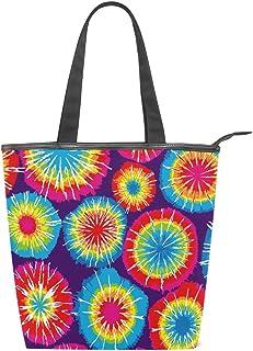 MALPLENA Malplee Schultertasche für Damen, Regenbogenfarben, mit Batik-Hintergründen