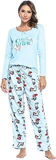 Sponsored Ad - Casual Nights Women's Jersey Knit Long-Sleeve Top and Mircro Fleece Bottom Pajama Set