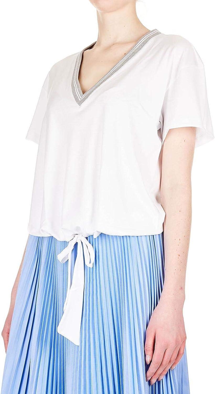 ELEVENTY Women's 980TS0070TSH2700301 White Cotton TShirt