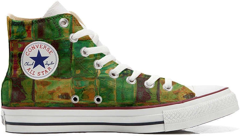 Converse All Star Hi Customized personalisierte Schuhe (Handwerk Schuhe) Design Design Design Texture  aafdf7