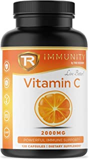Vitamin C 2000mg - Powerful Immune System Protection with Potent Antioxidants and High Absorption Ascorbic Acid Vitamin C ...
