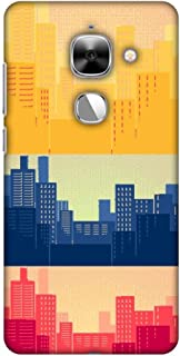 AMZER Slim Fit Handcrafted Designer Printed Snap On Hard Shell Case Back Cover for Leeco Le Max 2 - Colombia Flag- Cityscape HD Color, Ultra Light Back Case