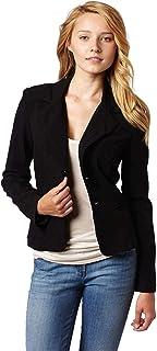 Juniors Long Sleeve Button Welt Jacket
