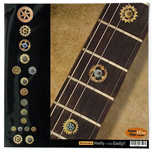 Fretboard Markers Inlay Stickers Decals for Guitars & Bass - Steampunk Gears
