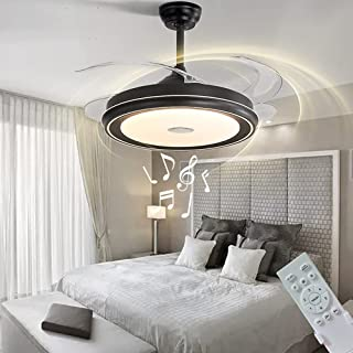 LCiWZ Invisible Ceiling Fan with Lights,42in Smart...
