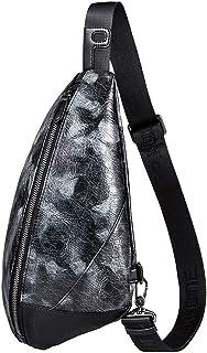 Men's bag Bolso de pecho de cuero de la PU Bolso de hombro cruzado de la honda Mochila Satchel para hombres Mujeres wallet
