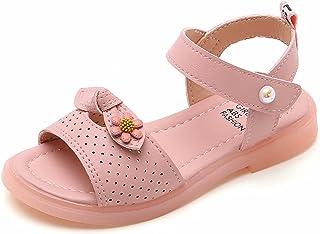 Sandales Fille Enfant Chaussures de été Sandales Bout Ouvert Blanc Rose Violet