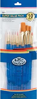 Royal Langnickel Gold Taklon Brush Set Super Value Pack