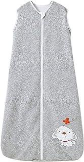 Saco de dormir para bebé de invierno con mangas para niño, niña, recién nacido, 2,5 tog, color gris (130 cm/3-6 años), bordado gris