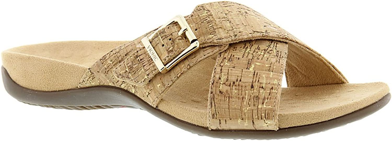 Vionic Women's Dorie Slip-On Sandals in gold Cork