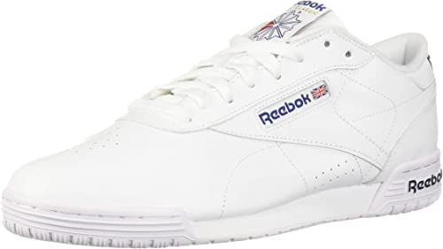 Reebok Men's Exofit Low, blanco Royal azul, 9.5 M US