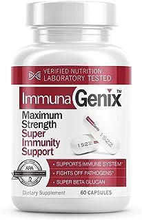ImmunaGenix - Featuring Super Beta Glucan- Maximum Strength Super Immunity Support - 60 Capsules One Month Supply