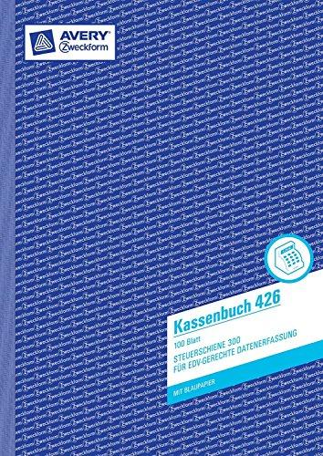 Avery Zweckform 426 Kassenbuch, DIN A4, nach Steuerschiene 300, 100 Blatt, weiß (4er Pack)