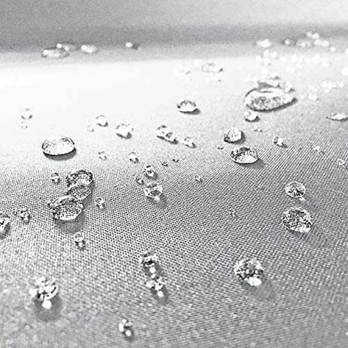 Panini Tessuti, Tejido de Tela Impermeable Vendido por Medio Metro, 1 Unidad = 50 cm, 2 Unidades = 100 cm. Cubiertas, Bolsas, cenadores, sofás de Exterior o Cojines (Gris Claro)