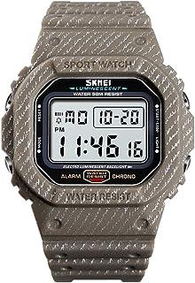 Andoer 1471 Analog Digital Watch Luminous Outdoor Sport Watch Men Digital Watch 5Bar Waterproof Alarm Clock Cowboy Fashion...