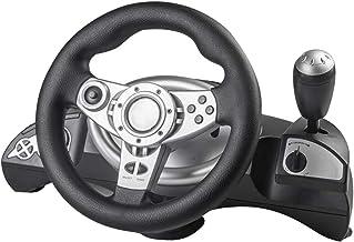 Generic Roda de corrida, volante USB de 270 graus com kit de pedal para PS4/PS3/PC, design realista permite que você dirij...