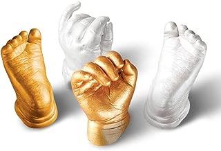 Mostbest 3D Hand & Foot Print Mold for Baby Powder Plaster Casting Kit Handprint Footprint Keepsake Gift Memorial