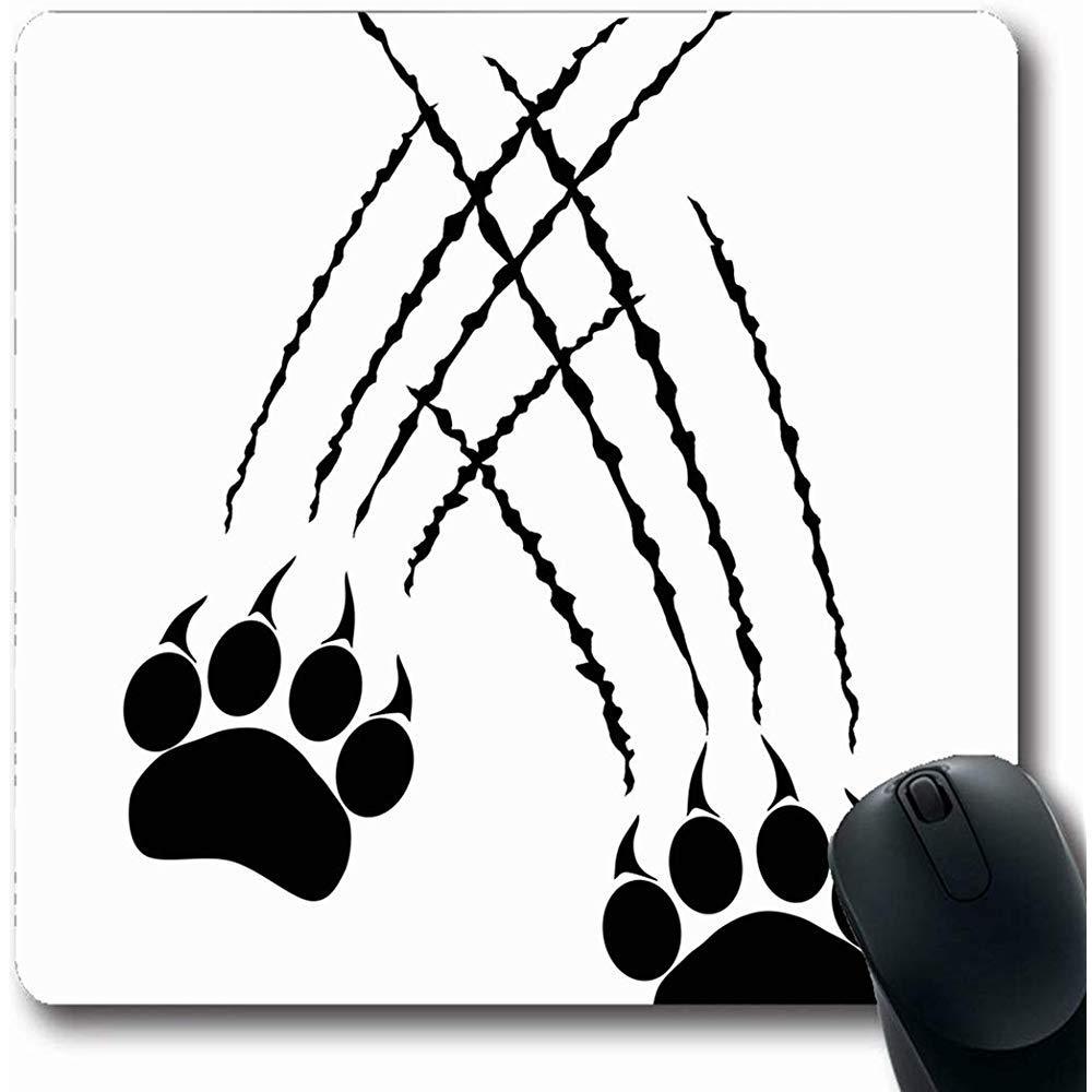 Alfombrillas De Ratón Caracal Garra Huellas Patas De Gato Grande Pantera Tigre Rabia Naturaleza León Puma Jaguar Leopardo Caza Forma Oblonga 18X22Cm Alfombrilla Antideslizante para Juegos: Amazon.es: Electrónica