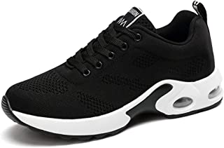 AIRAVATA Chaussures de Sports Course Femme Fitness Athlétique Confort Respirant Poids Léger Baskets Air Chaussures