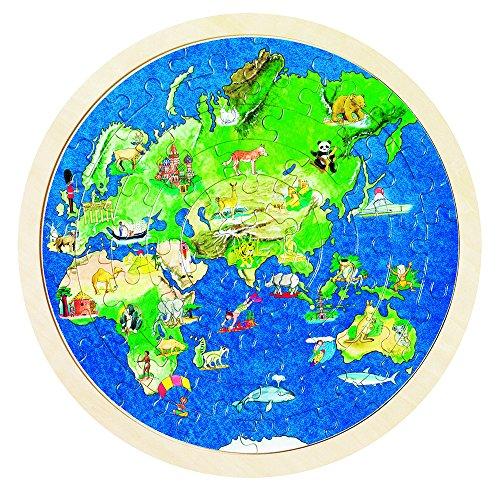 Goki 57666 - Einlegepuzzle - Weltkugel