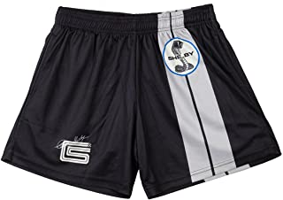 Shelby American Black Two Stripe Shorts | Performance, Quick Dry, Moisture Wicking Fabric | Officially Licensed