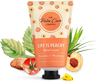 The Palm Care Company Life Is Peachy 100% Naturalle Hand Cream   Light and Non-greasy for Soft & Smooth Hands (30ml)